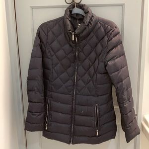 Laundry Navy Blue Down Quilted Zip-up Jacket